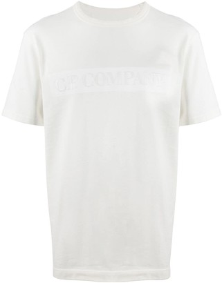 C.P. Company logo-embroiderd T-shirt