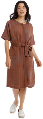 Regatta Magyar Short Sleeve Button Front Tie Waist Dress