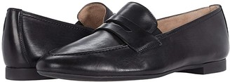 Paul Green Bonnie Flat (Black Leather) Women's Shoes