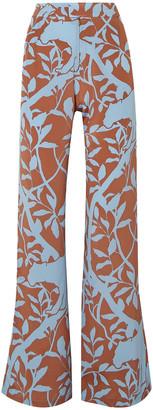 Johanna Ortiz Dominant Paradigm Printed Silk Crepe De Chine Wide-leg Pants