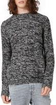 Topman Men's Monochrome Marl Sweater