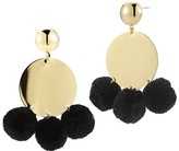 Elizabeth and James Stevie Pom-Pom Disc Earrings