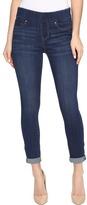Liverpool Sienna Pull-On Rolled-Cuff Crop in Silky Soft Denim in Elysian Dark Women's Jeans