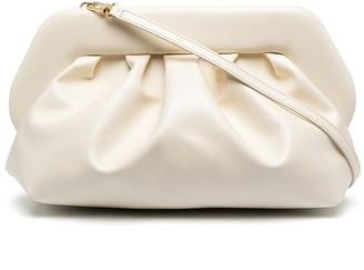 Themoire Bios gathered clutch bag