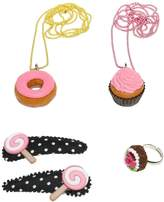 Pop Cutie Cupcakes Ring, Necklaces & Hairclips Set