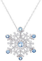 Hallmark As Is Sterling Snowflake Pin Pendant w/Chain