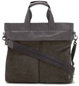 Vince Camuto Men's 'Surbo' Convertible Suede Tote - Grey