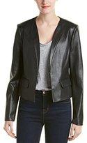 BCBGMAXAZRIA Women's Cruz FX Leather Cropped Blazer