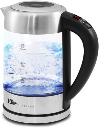 Elite Platinum 1.7L Electric Programmable Kettle, 7.2 Cups