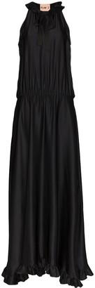 Plan C Ruffled Sleeveless Maxi Dress