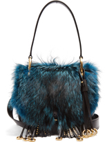 Prada Corsaire fox-fur and leather shoulder bag