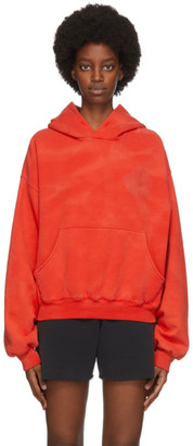 ERL SSENSE Exclusive Red Daisy Hoodie