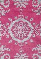"""Ecarpetgallery Hand-knotted La Seda Medallion Corners 4'0"""" x 5'11"""" 70% Wool, 30% Art Silk area rug"""