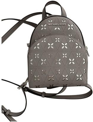 Michael Kors Grey Leather Backpacks