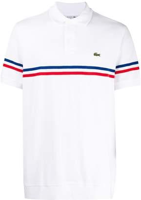Lacoste contrast stripe polo shirt