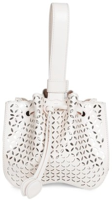 Alaia Rose-Marie Leather Bracelet Bag