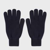 Paul Smith Men's Navy Cashmere Gloves