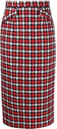 Goat Kay check pencil skirt