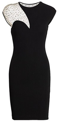 CDGNY by CD Greene Embellished Illusion Panel Sheath Dress