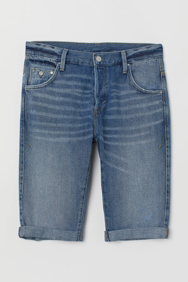 H&M Relaxed Fit Denim Shorts - Blue