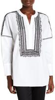Natori Poplin Embroidery Shirt