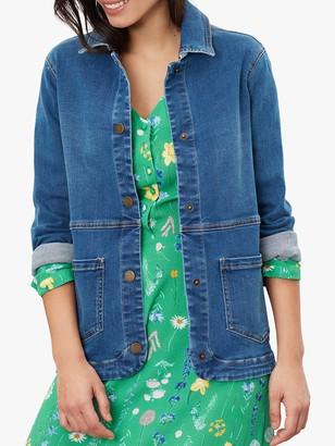 Joules Imogen Denim Jacket, Mid Blue