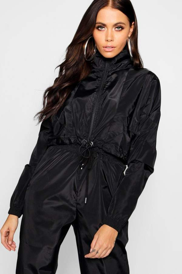 Crop Zip Up Track Jacket