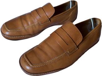 Louis Vuitton Camel Leather Flats
