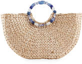 Capelli of New York Straworld Woven Jeweled Top Handle Bag