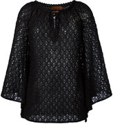 Missoni drawstring neck knitted blouse