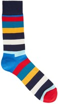 Happy Socks Striped Cotton Blend Socks