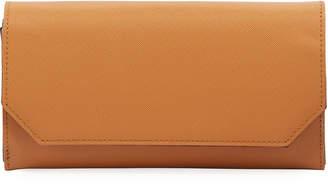 Neiman Marcus Textured Flap-Top Continental Wallet