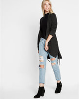 Express ribbed knit lace-up side cover-up