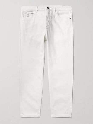 Brunello Cucinelli Stretch-Denim Jeans - Men - White