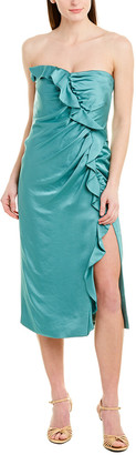 Jonathan Simkhai Ruffle Cocktail Dress