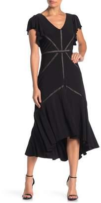 Taylor Flutter Sleeve High/Low Hem Dress