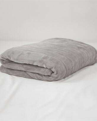 Sensorpedic Soft Grey Warming Blanket With Two Digital Controllers