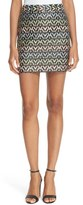 Milly Chevron Brocade Miniskirt