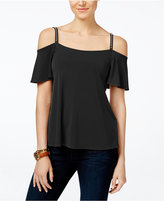 MICHAEL Michael Kors Embellished Cold-Shoulder Top, A Macy's Exclusive