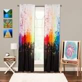 Crayola Cosmic Burst 84-Inch Rod Pocket Window Curtain Panel in Black