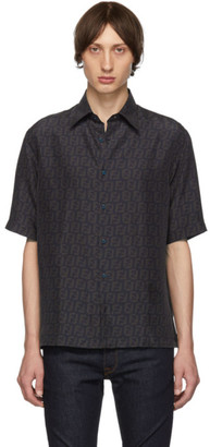 Fendi Navy Silk FF Shirt