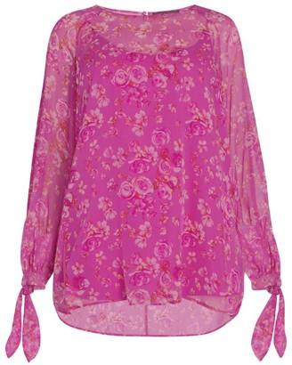 Marina Rinaldi Floral Silk Blouse