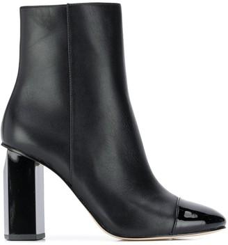 MICHAEL Michael Kors Patent Toe Cap Ankle Boots