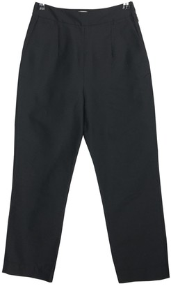 Isa Arfen Black Silk Trousers for Women