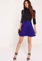 Missguided Premium Mesh Full Mini Skirt Cobalt Blue