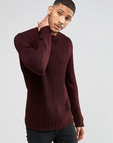 Religion Casey Textured Knit Crew Jumper