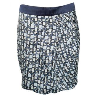Pinko Blue Silk Skirt for Women