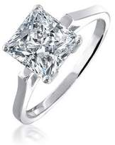 Bling Jewelry Silver Plated 1.59ct Princess Cut CZ Bridal Engagement Ring