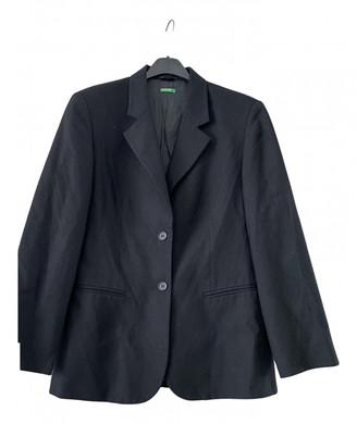 Benetton Black Wool Jackets