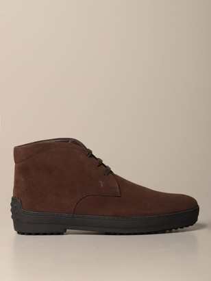 Tod's Winter Ankle Boot In Suede